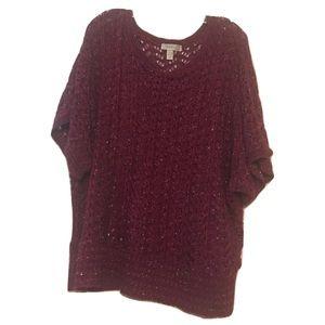 Dress barn burgundy sweater size 18/20 Woman